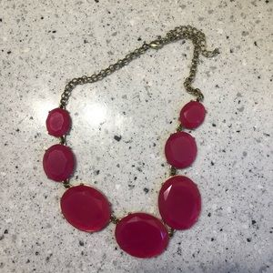 Pink oval statement necklace